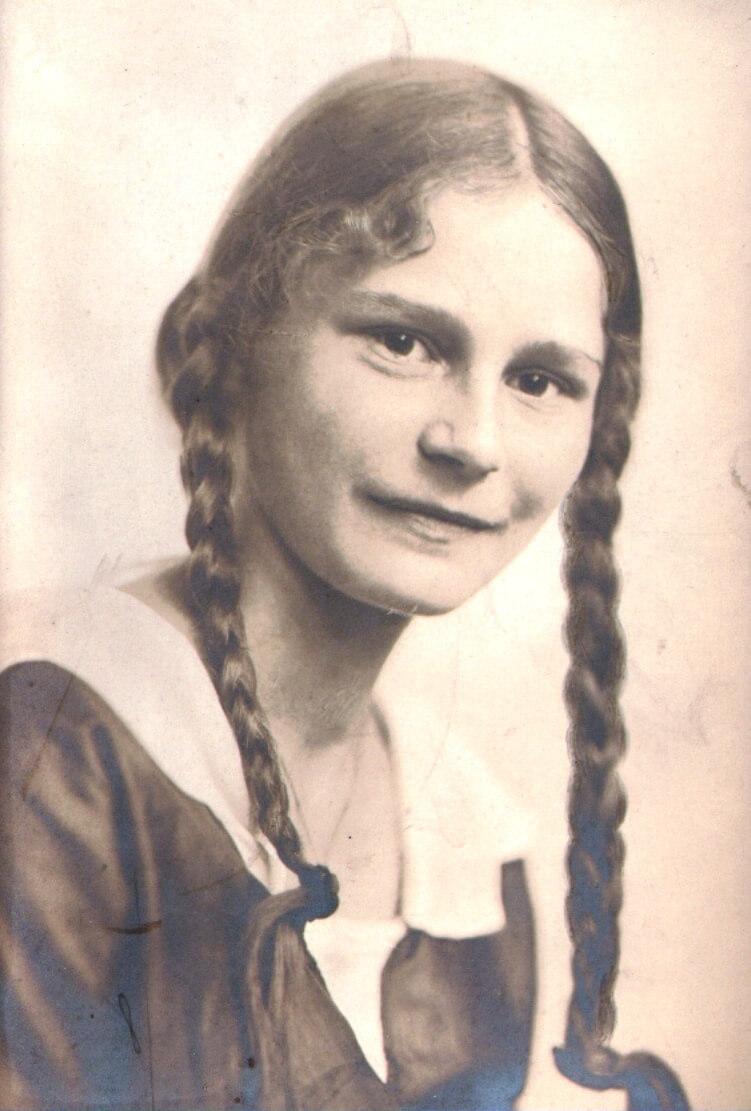 Gerda von Waldenfels als Schülerin