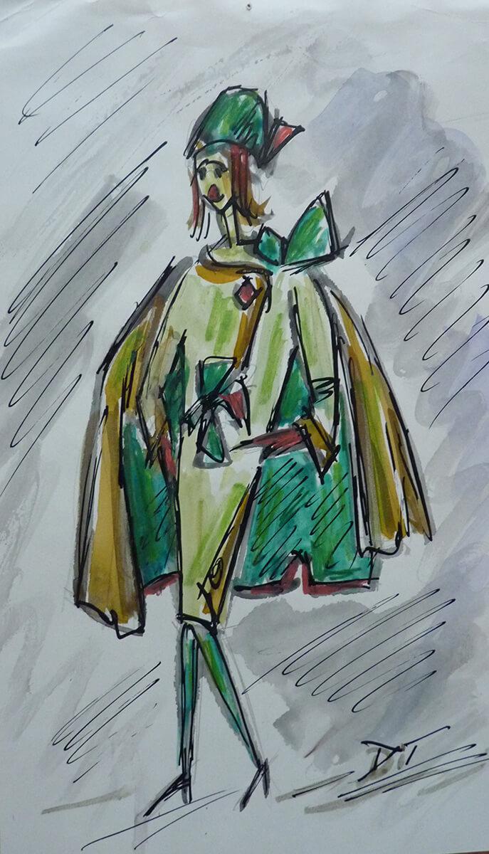Gerda Voith von Voithenberg - Modezeichnung