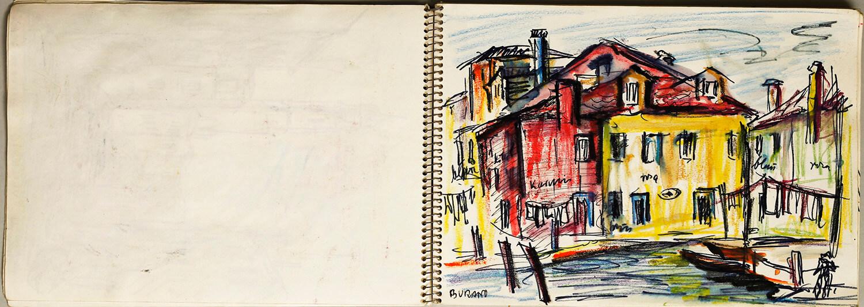 Skizzenbuch - Jesolo/Venedig, September 1967