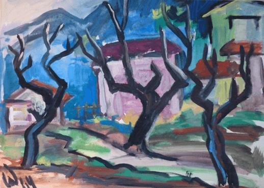 1964, Rosa Haus, Mischtechnik