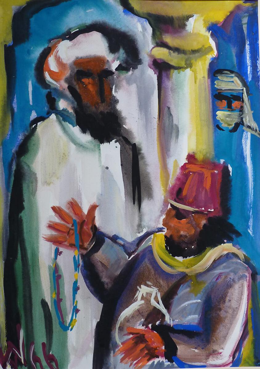 1966, Marokkanische Händler, Mischtechnik