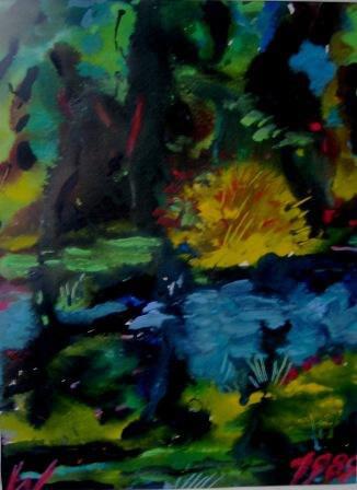 1989, Landschaftsimpression, Mischtechnik