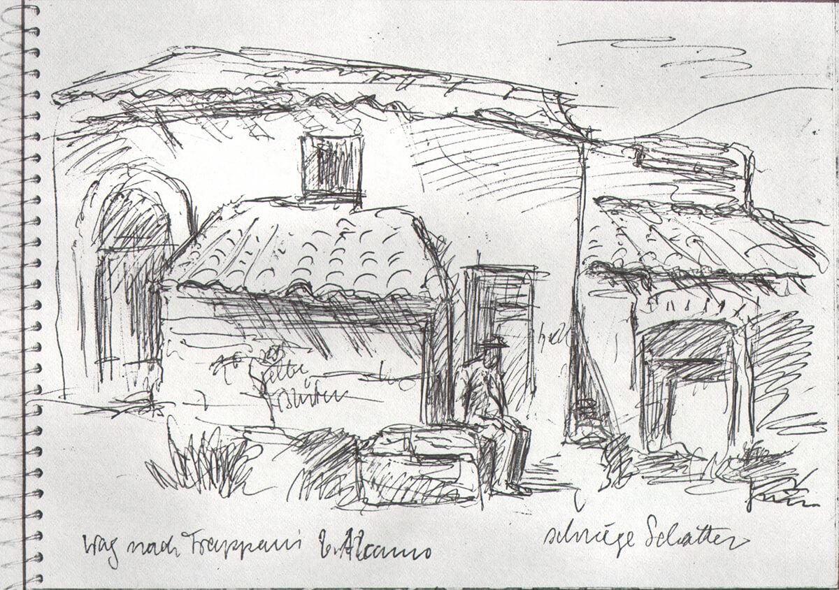Weg nach Trappani bei Alcamo