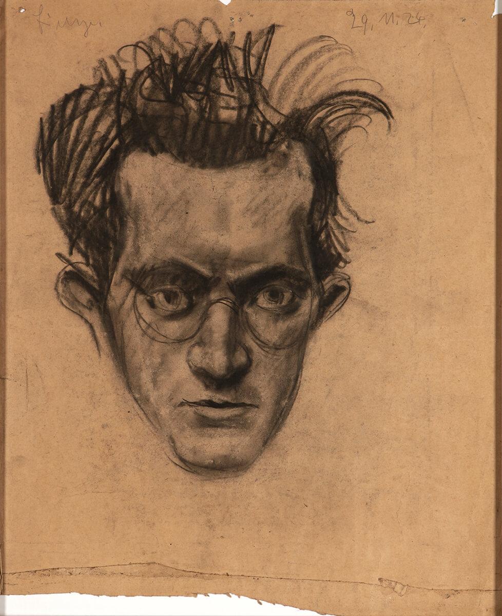 Friedrich Böhme - Portraitskizze, 1924