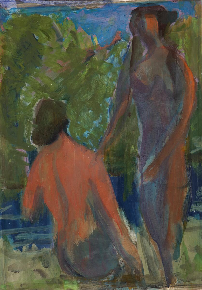 Friedrich Böhme - Zwei Frauen, 1973