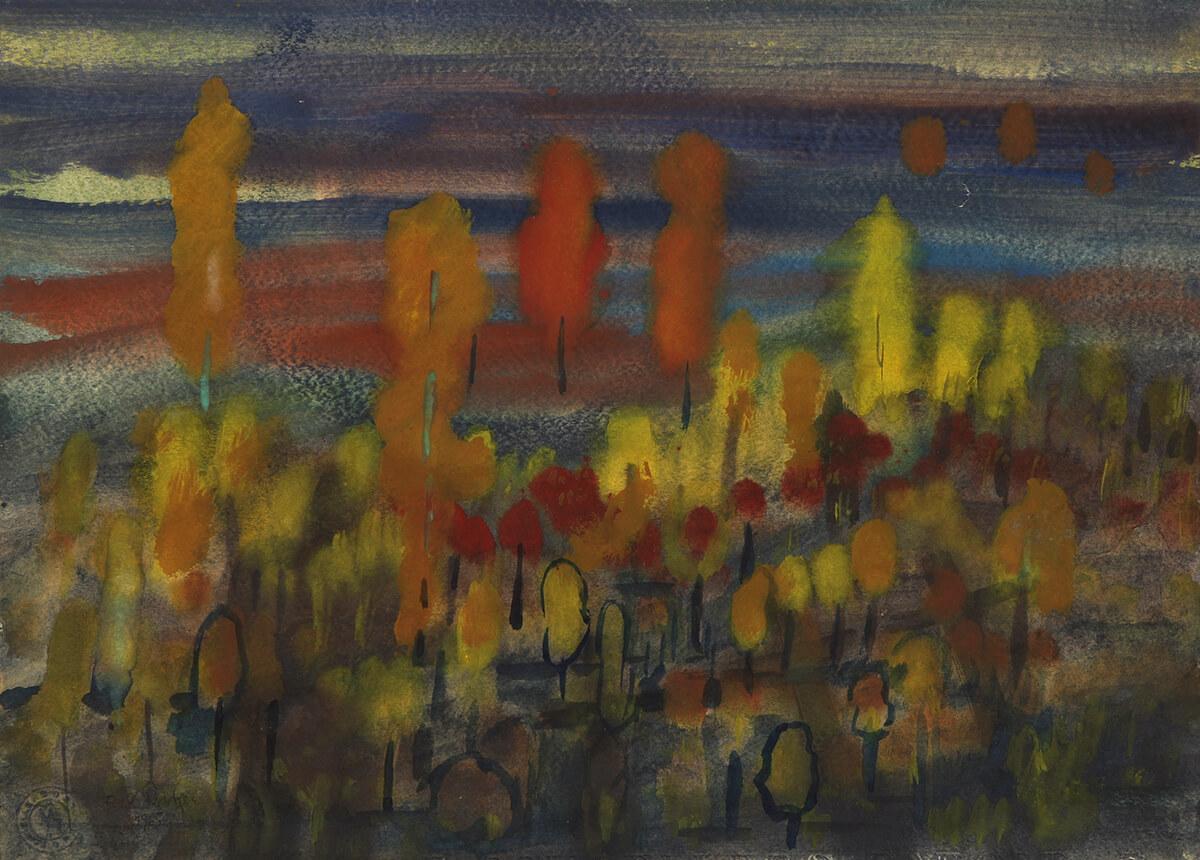 Ferdinand Röntgen - Herbstlicher Wald, 1965
