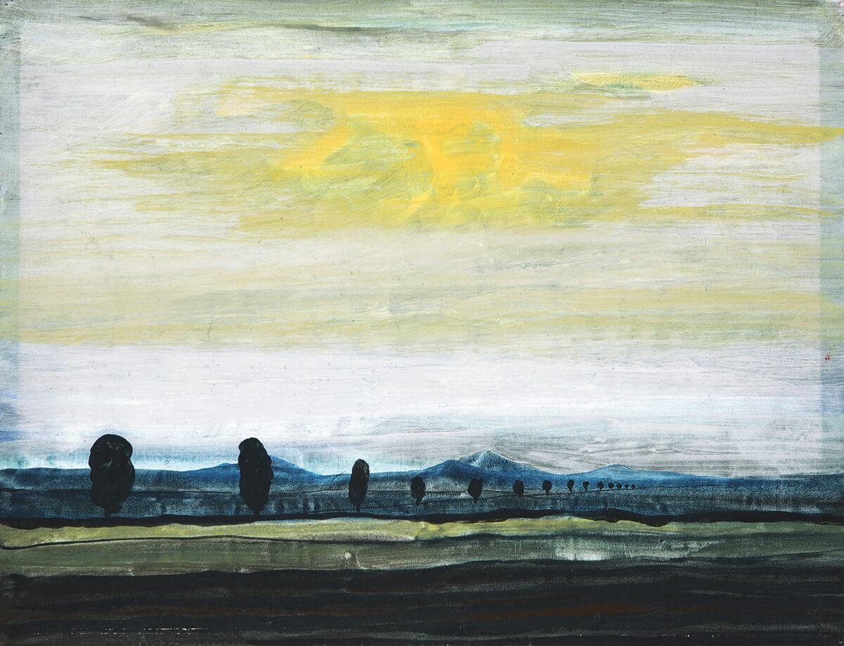 Ferdinand Röntgen - Flusslandschaft, 1960