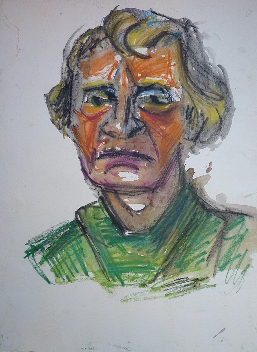 Gerda v. V. undat. Selbstbildnis