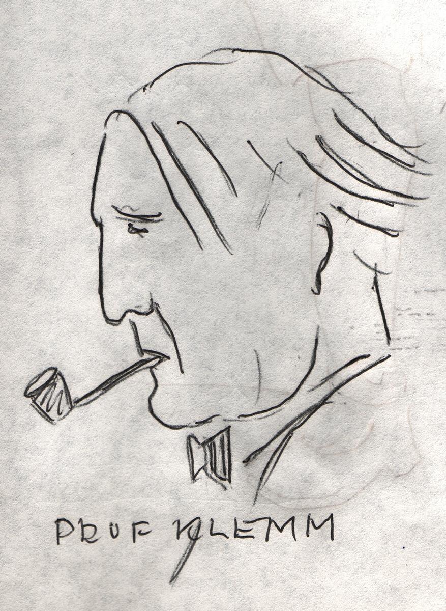 Dresden, Karikatur von G.v.W. Prof. Klemm